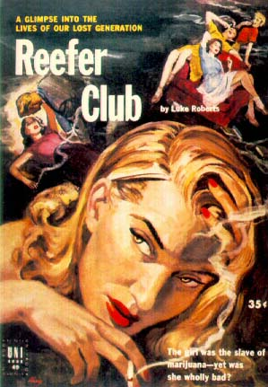 Book cover, 'Reefer Club'